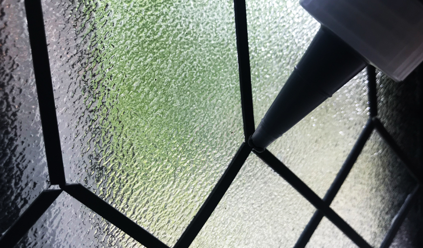 gallery glass product lead and liquid lead on window