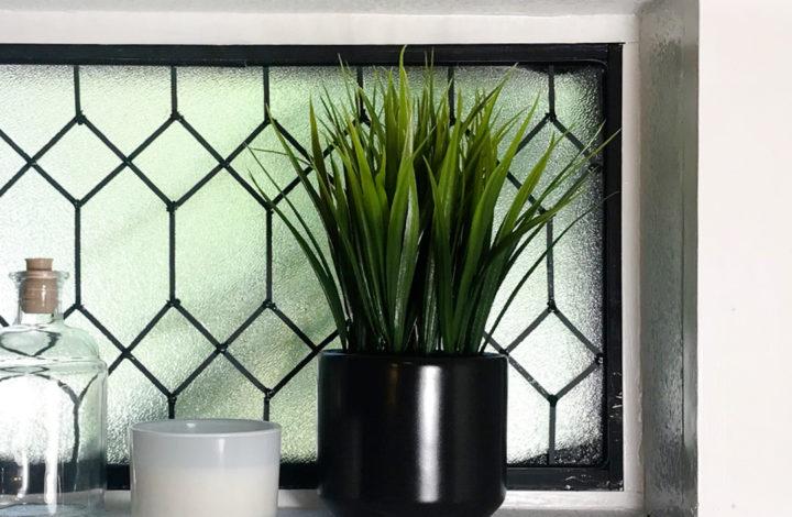 DIY Faux Leaded Glass Window