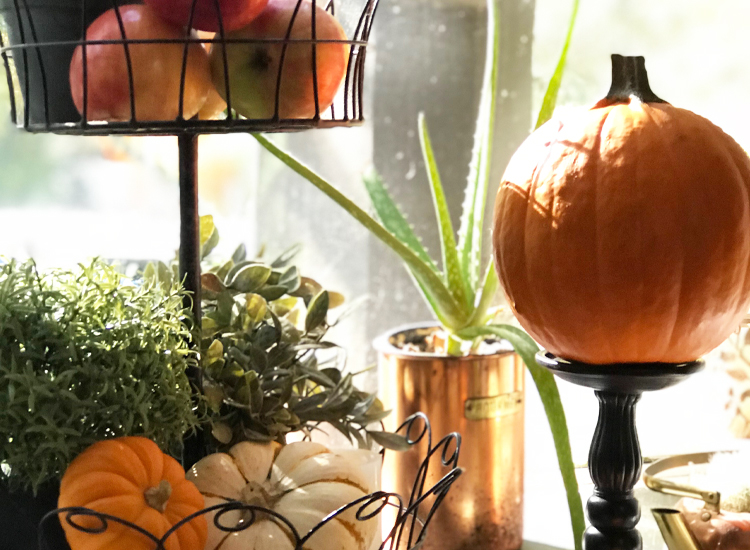 pumpkin candle stick