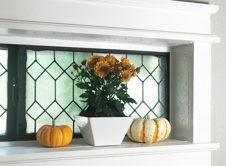 faux lead window
