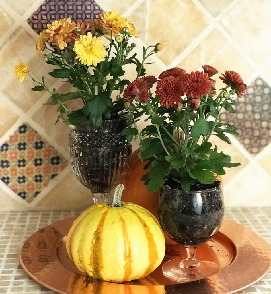 flowers in goblets