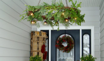 grapevine wreath chandelier