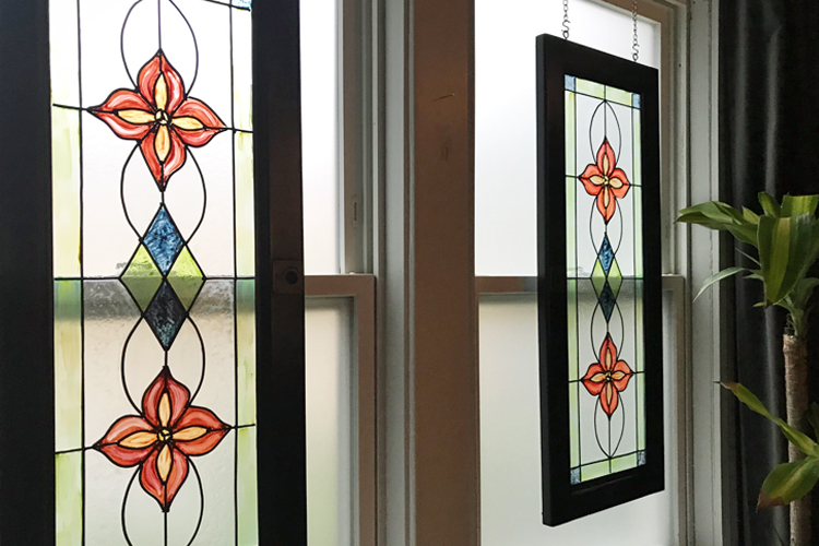 Faux Stained Glass Window Urban Cottage Living
